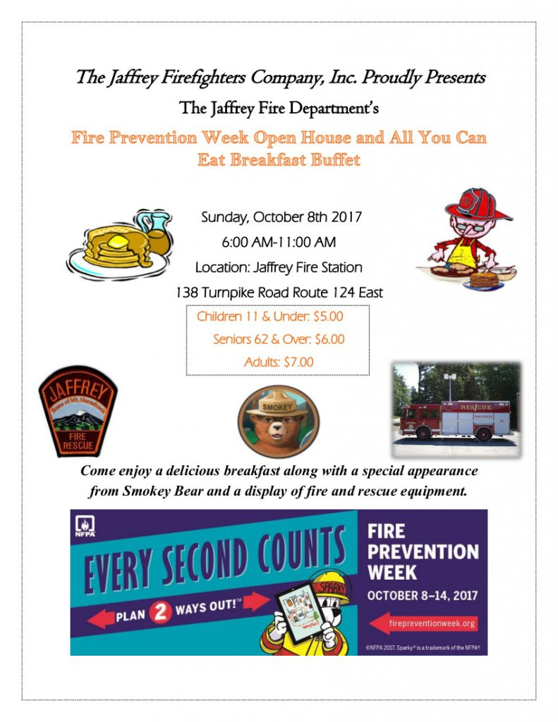 Fire Prevention Breakfast 2017